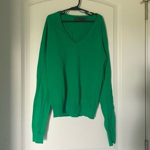 Zara Green V-Neck Sweater, S
